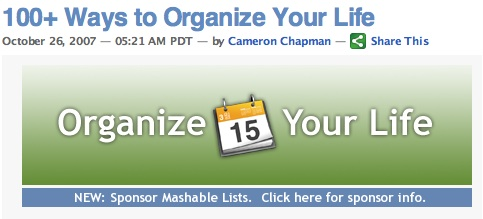 100+ Ways to Organize Your Life