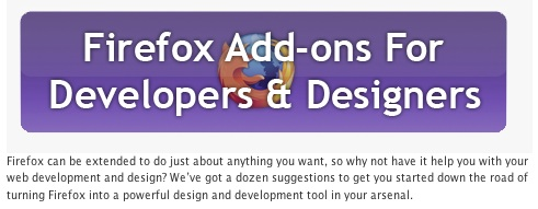 Another 16 Firefox Add-ons For Web Designers