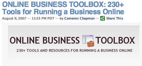230+ Tools for Running a Business Online