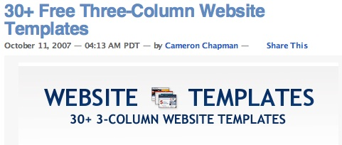 30+ Free Three-Column Website Templates