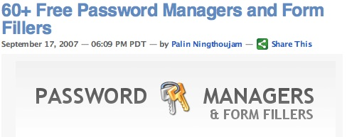 60+ Free Password Managers and Form Fillers