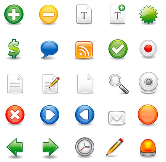 Vector Icon Set 1 - Containing 25 Icons