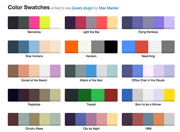 Jquery colorswatches