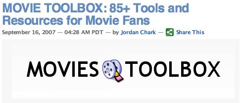 MOVIE TOOLBOX: 85+ Tools and Resources for Movie Fans
