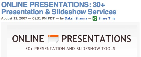 ONLINE PRESENTATIONS: 30+ Presentation & Slideshow Services
