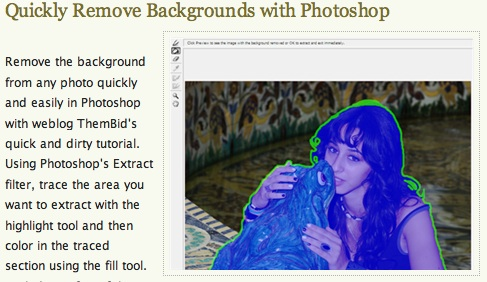 Quickly Remove Backgrounds with Photoshop